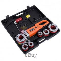 110V 2300W Portable Electric Pipe Threader 6 Dies Threading Machine 1/2 to 2
