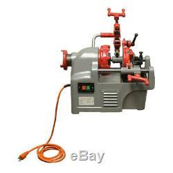 1/2 1 Electric Pipe Threader Threading Machine Pipe Cutter Deburrer