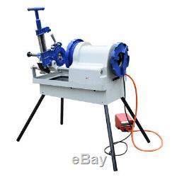 1/4 to 4 NPT Automatic Pipe Threading Machine 1.5hp Threader RH / LH