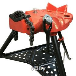 1/8 6 Portable Tristand Pipe Chain Vise Base Machine Stand Holder Foldable
