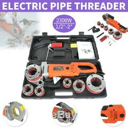 220V 2300W Portable Handheld Electric Pipe Threader With 6 Dies Threading Machine