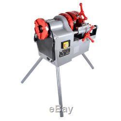 750W Electric Pipe Threader Machine 3 Legs (1/2 2) Threading Cutter