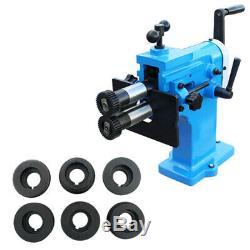 8 Throat BEAD BENDER Machine 18 Gauge Bending Roll 4 Roller Die Sets