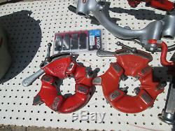 EXC RIDGID 300 T2 PIPE THREADER MACHINE Two 811 head 1/2-2 Complete set