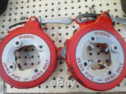 EXC RIDGID 300 T2 PIPE THREADER MACHINE Two 811 head 1/2-2 Complete set