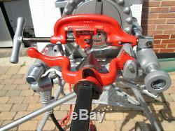EXC RIDGID 300 T2 PIPE THREADER MACHINE Two 811 head 1/2-2 Tray Complete set