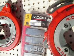 EXC RIDGID 300 T2 PIPE THREADER MACHINE Two 811 head 1/2-2 Tray Complete set
