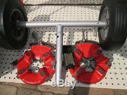 EXC RIDGID 300 T2 PIPE THREADER MACHINE Two 811 head HS 1/4-2 Complete set