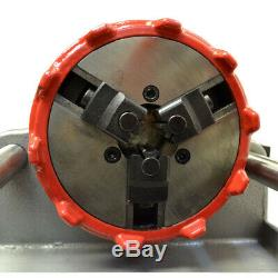 Electric Pipe Threader Machine 1/2 1 Threading Cutter Deburrer