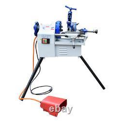 Electric Pipe Threader Machine 1/2 to 2Threading Cutter, Deburrer NPT