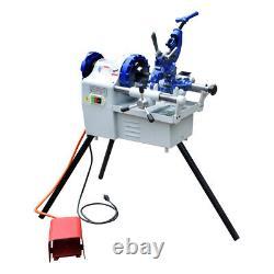 Electric Pipe Threader Machine 1/4 to 2Threading Cutter, Deburrer NPT
