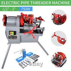 Electric Pipe Threader Threading Machine (1/2 1) Quick Opening Die Head