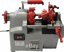 Electric Pipe Threader Threading Machine 1/2 1 Quick Opening Head Oiler P25A