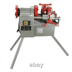 Electric Pipe Threader Threading Machine 1/2 2 Threading Die Cutter Deburrer