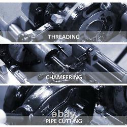 Electric Pipe Threader Tool Threading Machine 110V 1/2''-4 Threading Cutter NPT