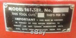 FREE SHIPPING! Ridgid 161 Pipe Threader Threading Machine EXCELLENT