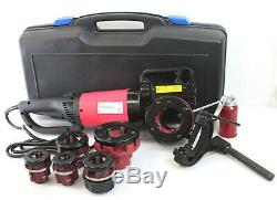 HD 2000W 110V 1/2 2 Portable Electric Pipe Threader with6 Dies Threading