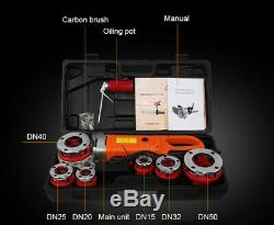 Handheld Electric Pipe Threader Pipe Threading Machine With 6 Dies 220V