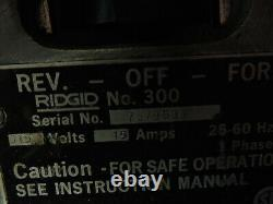 (MA3) RIDGID 15682 300 Complete Pipe Threading Machine Local Pick Up Only