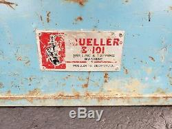 Mueller B-101 Pipe Tapping Machine And Accessories Very Good Condition B101