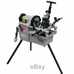 New Pipe Threading Machine 1/2 2 Two Speed Shifing Threader 1.7HP