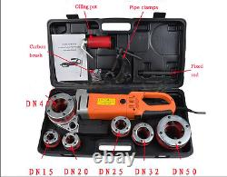 Portable Electric Pipe Threader With 6 Dies Threading Machine Y