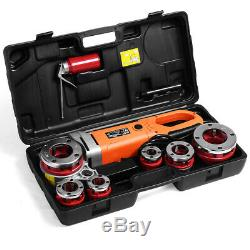 Portable HD 2000W Pipe Threader Electric Threading Machine With6 Dies 1/2 to 2