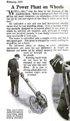 RARE Antique 1920s Toledo Universal Power Drive Pipe Threader Threading Machine
