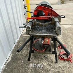 RIDGID 1224 1/2 inch 4 inch Power Threading Machine With 2 Dies