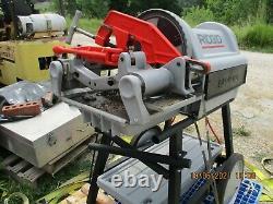 RIDGID 1224 1/2 to 4 power pipe threader machine model 26092 Lik eNew