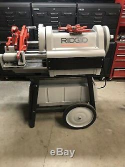 RIDGID 1224 PIPE THREADER THREADING MACHINE With 2 DIES 1/2 4, 300, 535, 1822