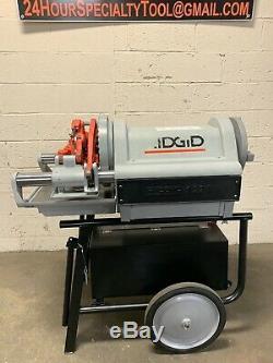 RIDGID 1224 Pipe Threading Machine 1/2 4 with 3 Die Heads 711 714 300 26092 #3