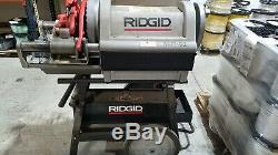 RIDGID 1224 Pipe Threading Machine 26092 with 711 714 Die Heads and Extra Dies