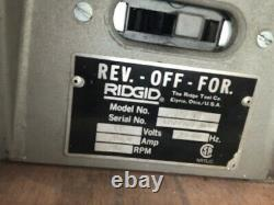 RIDGID 300 115V Power Pipe Threading Machine with Foot Switch Works Great