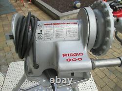 RIDGID 300 PIPE THREADER MACHINE WITH CARRIAGE SET one 811 head w dies