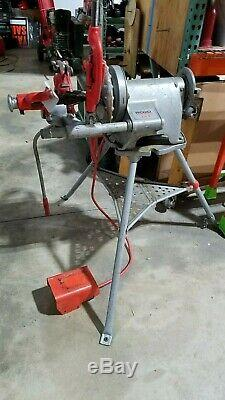 RIDGID 300 Power Drive Pipe Threading Machine Foot Switch 41855 Plus Stand