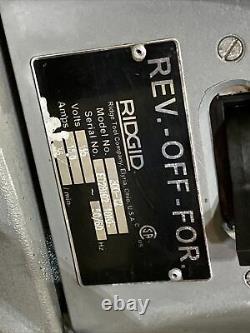 RIDGID 300 T2 Pipe Threader, Threading Machine, Rigid & 5 Stands & 460 Tripod 12