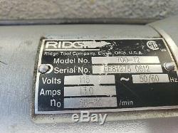 RIDGID 700 T2 PIPE THREADER electric power pony threading machine WATCH VIDEO