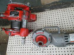 RIDGID 700 and 141 Receding Geared Threader with 744 adater FOR 2-1/2 TO 4
