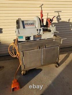 RIDGID Model 1822-1 Nice 1/2 inch 2 inch Power Threading Machine