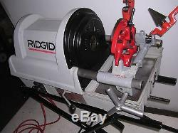 RIDGID PORTABLE WHEELED 1822-I Auto-Chucking PIPE THREADER 535 DIE HEAD 141 161