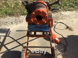ROTHENBERGER Ridgid Portable Pipe Threading Machine, 1/2 to 2 In With Stand
