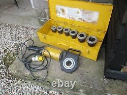 Rems Amigo 2 Pipe Conduit Threader Threading Machine 110v & 6 Imperial Die Heads