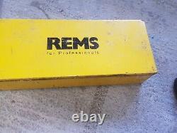 Rems amigo 2 pipe threading machine tap and die