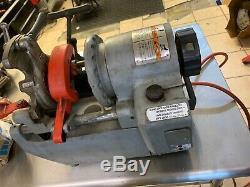Ridgid 1210 PIPE Threading machine withfoot pedal machine THREADER