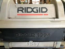 Ridgid 1224 4 Pipe Threading Machine
