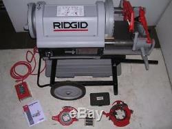 Ridgid 1224 Pipe Threader 1/2-4 LIGHTLY USED 2 Die Heads! 711 714 to 6 With 161