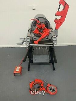Ridgid 1224 Pipe Threader 1/2 4 with 3 Die Heads! FREE SHIPPING