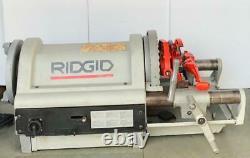 Ridgid 1224 Pipe Threader/ Threading Machine With 2 Heads120v 1/2-4 Size #1