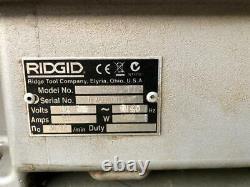 Ridgid 1224 Pipe Threader/ Threading Machine With 2 Heads120v 1/2-4 Size #3
